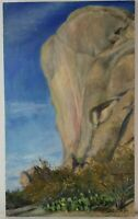 "Vintage Oil Painting on Canvas Texas Landscape Unframed Art (24"" x 15"")"