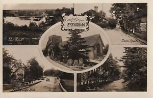 Frensham Surrey Frith Real photo Multiview 1910s postcard