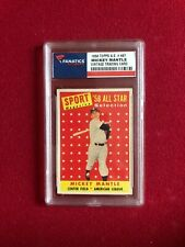 "1958, Mickey Mantle ""TOPPS"" All-Star Baseball Card (Scarce / Vintage) Yankees"