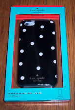 NIB AUTHENTIC Kate Spade iPhone 6 Black POLKA DOTS Hybrid Hardshell Case Gold