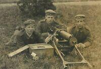 GERMAN MACHINEGUN TEAM WW1(Maschinengewehr Soldat) WAR RPPC PHOTO PC POSTCARD