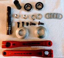 Red Odyssey Black Widow 3pc Cranks 175mm BMX Robinson, Haro, Dyno, Hutch, GT, SE