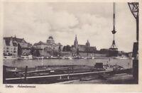uralte AK, Stettin Hakenterrasse Blick über Fluss Szczecin Westpommern Nr.65