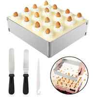 Kitchen Stainless Steel Rectangular Adjustable Cake Bread Mould Baking Tools