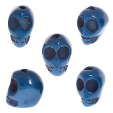 Resina acrílica azul 3D Cráneo Gótico Cuentas 16x15mm-se vende como un paquete de 5 (D49/2)