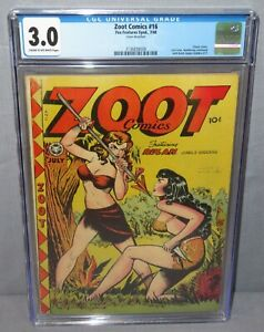 ZOOT COMICS #16 (Classic Good Girl Cover) CGC 3.0 GD/VG Fox Features Synd. 1948