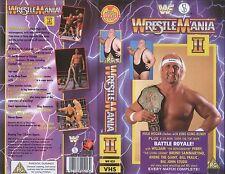 WWF Wrestlemania II 2 1986 ORIG VHS WWE Wrestling (Hulk Hogan vs Bundy)