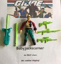 Bazooka Vintage 1993 Hasbro GI Joe Figure, Case & Nr Complete Accessories Lot c