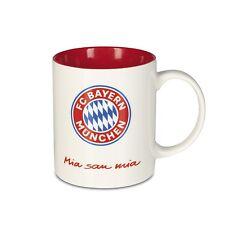 FC BAYERN MÜNCHEN Kaffeebecher Mia san Mia 350ml Weiß Rot FCB Tasse Kaffeetasse