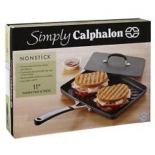 "NEW Simply Calphalon Nonstick 11"" Panini Pan and Press FREE SHIPPING"