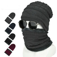 2Pcs/set Men Women Knit Ski Cap Winter Warm Crochet Knit Baggy Beanie Skull Hat