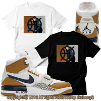CUSTOM T SHIRT MATCHING AIR JORDAN LEGACY 312 LIGHT BROWN JDL 1-1-3