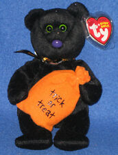 TY TRICKSTER the HALLOWEEN BEAR BEANIE BABY - MINT with MINT TAGS