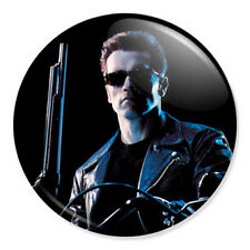 "Terminator 2 Judgement Day 25mm 1"" Pin Badge Button T-800 Arnold Schwarzenegger"