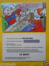 telefonkarte phone cards 10 units popeye and olive oyl braccio di ferro e olivia