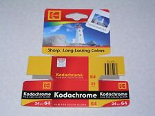 Kodachrome 64 -- KR 135-24 -- 24exp -film box only with hang tag-