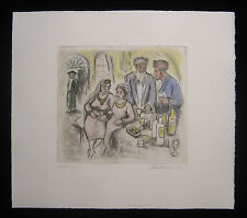 Original Ira Moskowitz Etching of At Home Signed 85/100
