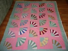 Vintage-Fan Tail- Quilt- (77 X 64 Inches)