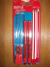 Berol School Set (3 Pencils 2 Pens Ruler Eraser Sharpener) by PAPERMATE