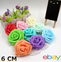 6 x 6 cm Colourfast Foam Cottage Without Stem Roses Various Colours, Weddings
