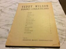 Teddy Wilons Piano Creations 1944 Piano Sheet Music Book