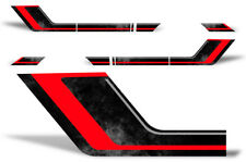 Rally Race Stripes Side Decal kit Truck bed kit -Fits Ford F150 09-14 RED BLACK
