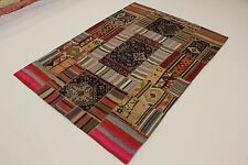 Nomaden Patchwork Stone Wash Antik Look Perser Teppich Orientteppich 2,65 X 1,90