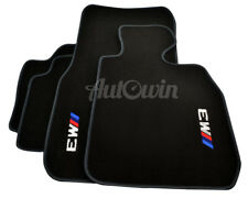 BMW Floor Mats M3 Series F80 F30 Black Carpets With Grey Rounds & Clips RHD UK