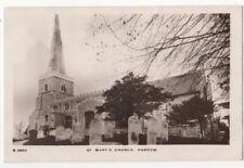 St Marys Church Harrow Middlesex Vintage RP Postcard 808b