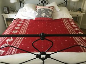 Nordic style Christmas blanket throw 100% cotton