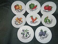 Lenox Vegetable Theme Bread & Butter or Appetizer Plates Set of 8 EC
