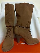 ZARA Boots Brown Tan Nude Suede - Size 36 - REPRICED!