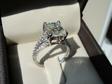 2CT Princess Diamond Solitaire brilliant Engagement Ring 10k White Gold Finish