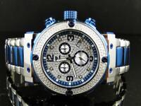 Mens Aqua Master W#146 85-8 Blue Stainless Steel Diamond Watch 0.25 Ct