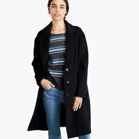 Nevereven Wool-blend Black Overcoat  Size XL H1227