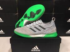 NEW! Adidas Men's Copa 19.1 IN Soccer Shoes Grey/Black/Green Sz: 8.5