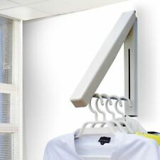 Folding Retractable Clothes Towel Hanger Stainless Wall Mount Storage Rack US
