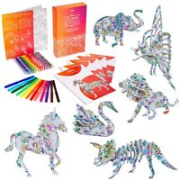 3D Puzzle for Kids – Colouring 3D Jigsaw Puzzle Gift Set with 6 Animals