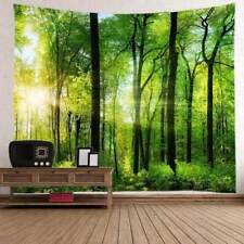 Nature Forest with Sunlight Print Tapestry Wall Hanging Art Tree Tapestry Decor
