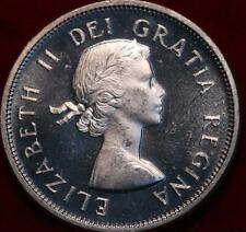 Uncirculated 1957 Canada 25 Cents Silver Foreign Coin