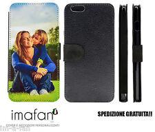 Cover Custodia Case FLIP eco PELLE - PERSONALIZZATA per Apple iPhone 6 Plus HD
