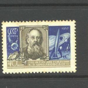 Russia 1957 SG 2123 Tsiolkovsky Space Scientist Centenary  MH
