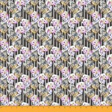 Soimoi Fabric Stripe & Butterfly Printed Craft Fabric by the Yard - BT-506G