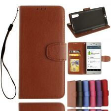 Business Slim Leather Case Flip Wallet Cover Kickstand For Sony XPeria Z3 Z5 E5