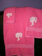 Barbie Personalized Barbie 3 Piece Bath Towel Set  Any Color Choice