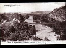 LE SAUT-DU-LOUP (63) GARE & PONT Métallique suspendu sur ALLIER en 1937