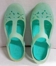 Crocs Carlie Mary Jane Flower Womens 7 Green Shoes