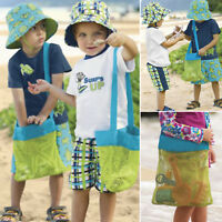 Portable Beach Sand Away Shoulder Mesh Bag Kids Object Toy Storage Bag Tote Net