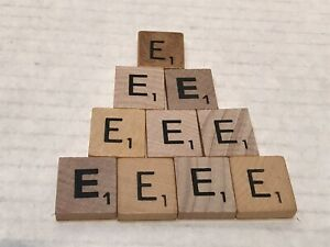 10 Scrabble Letter E Replacement Tiles or for Crafts