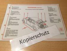 VW Käfer ( ab August 1961 ) Shell Schmier-und Pflegeplan
